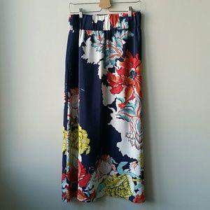 Anthropologie Sz XS Leifsdottir Silk Maxi Skirt